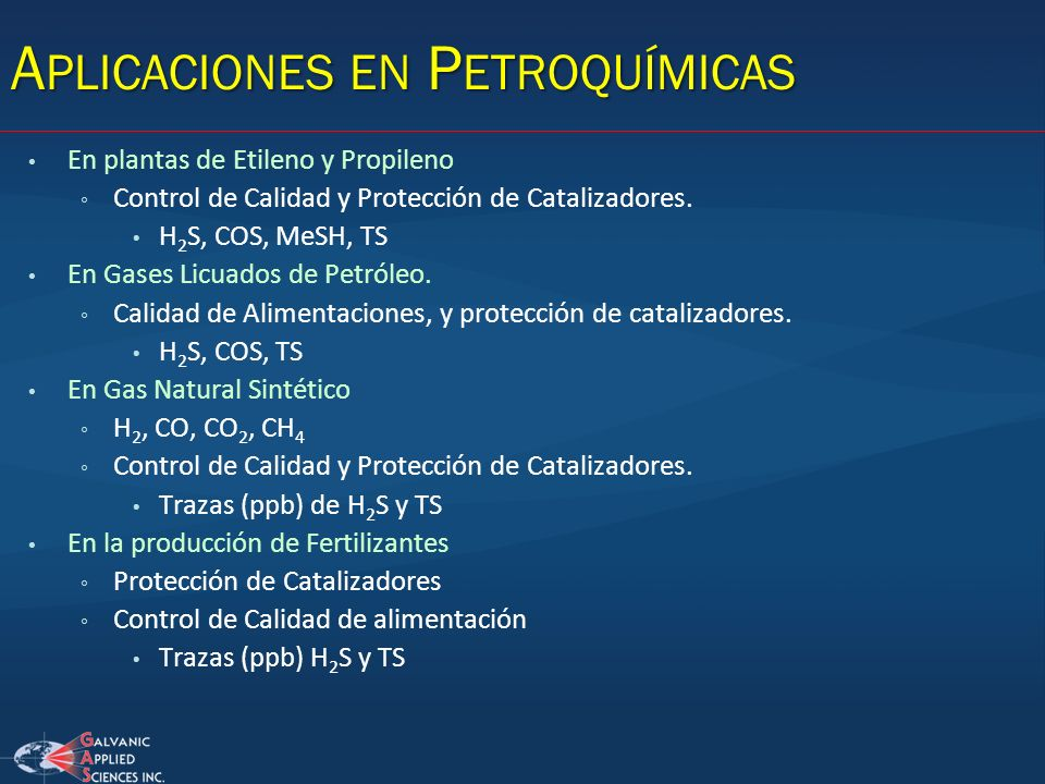 Aplicaciones en Petroquímicas