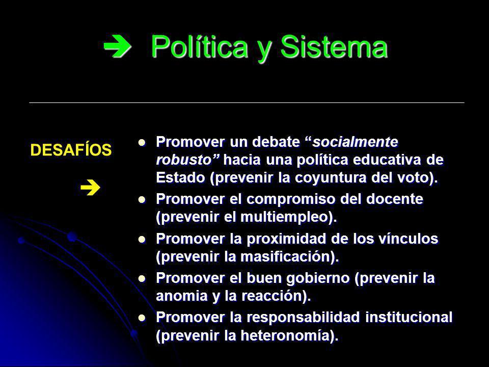 Política y Sistema DESAFÍOS 