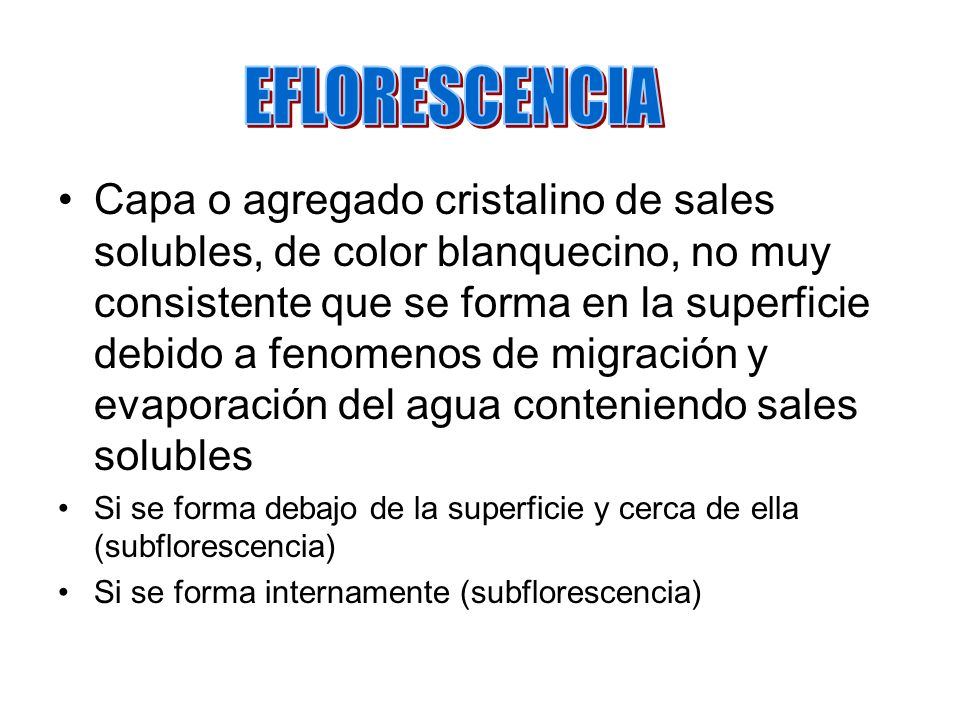 EFLORESCENCIA