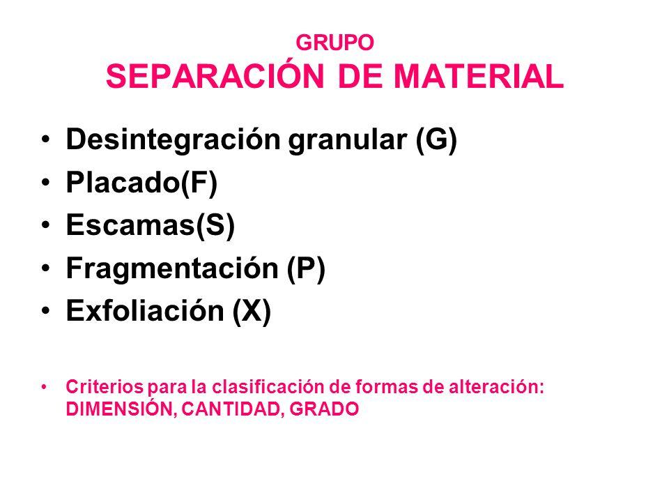GRUPO SEPARACIÓN DE MATERIAL