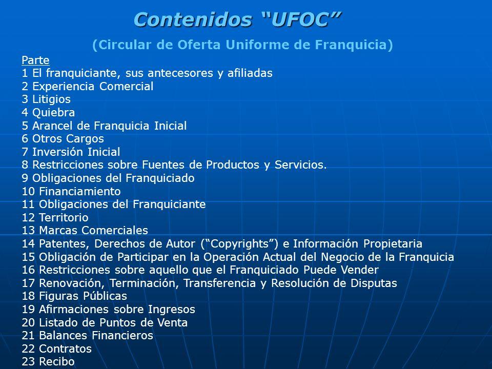 (Circular de Oferta Uniforme de Franquicia)