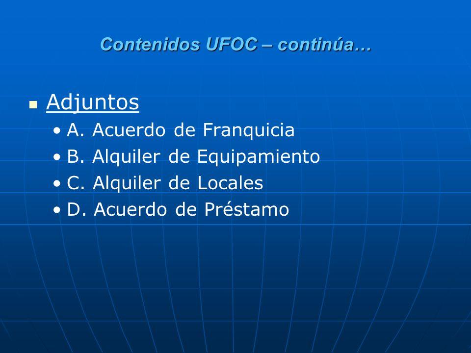 Contenidos UFOC – continúa…