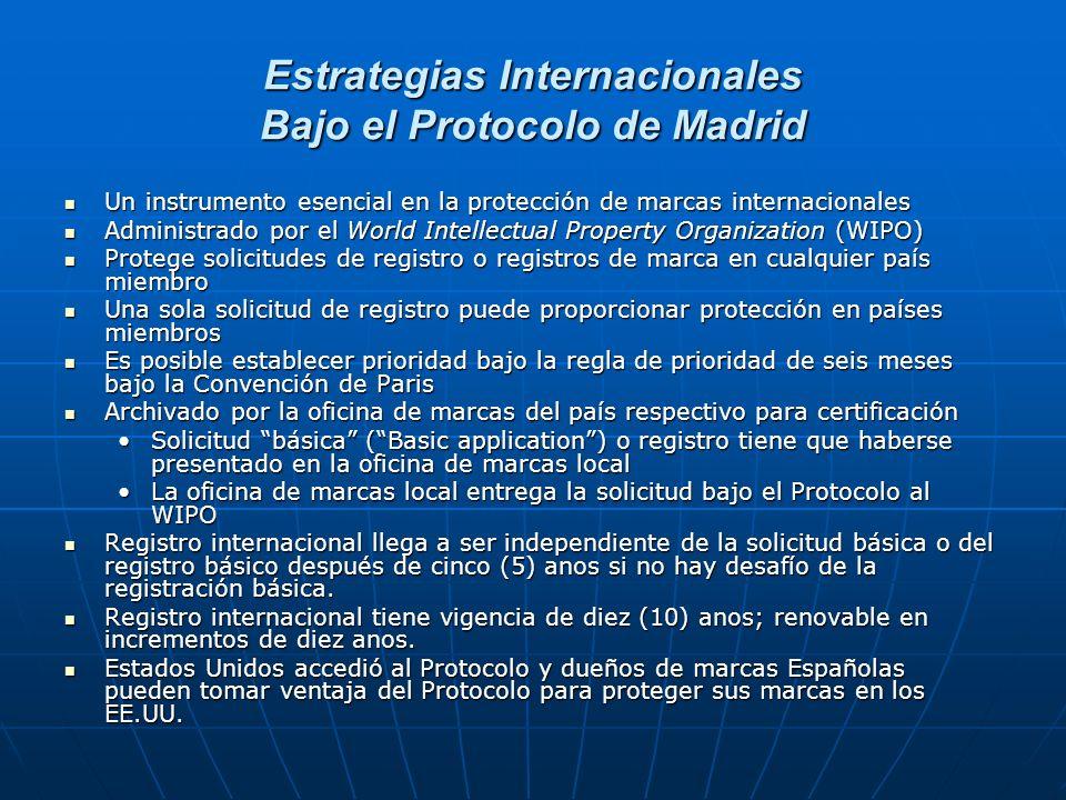Estrategias Internacionales Bajo el Protocolo de Madrid