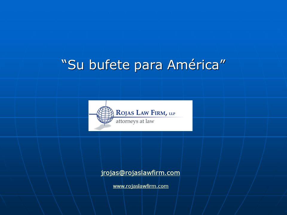 Su bufete para América
