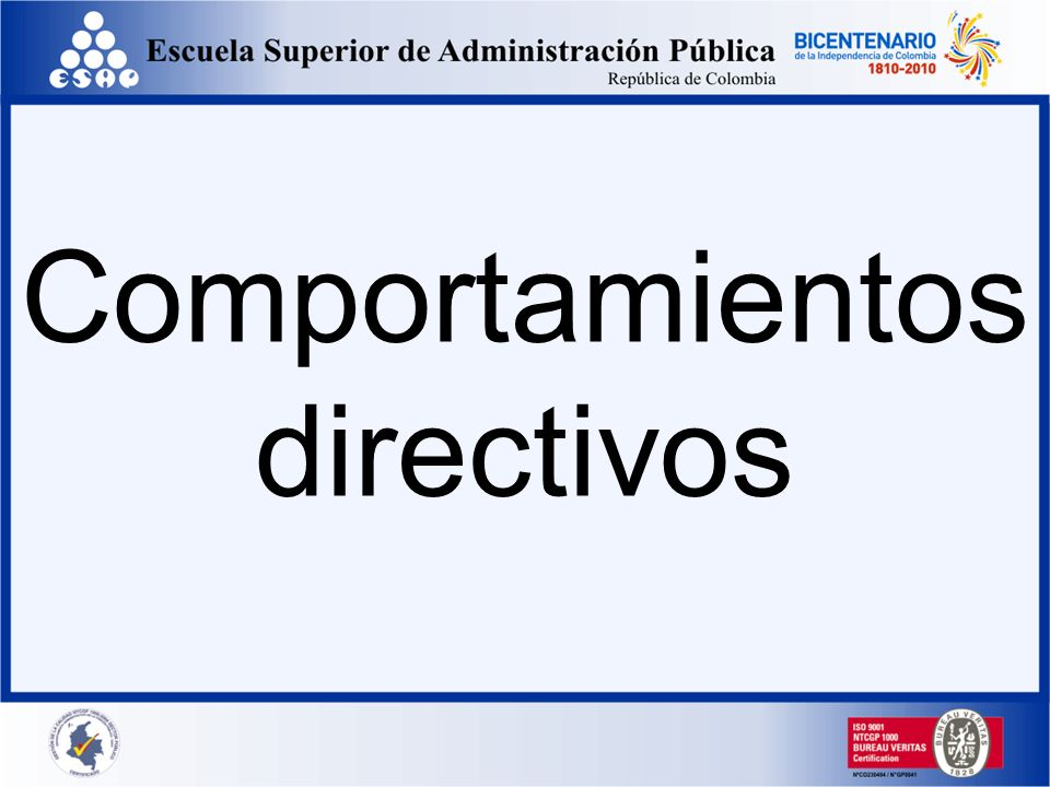 Comportamientos directivos