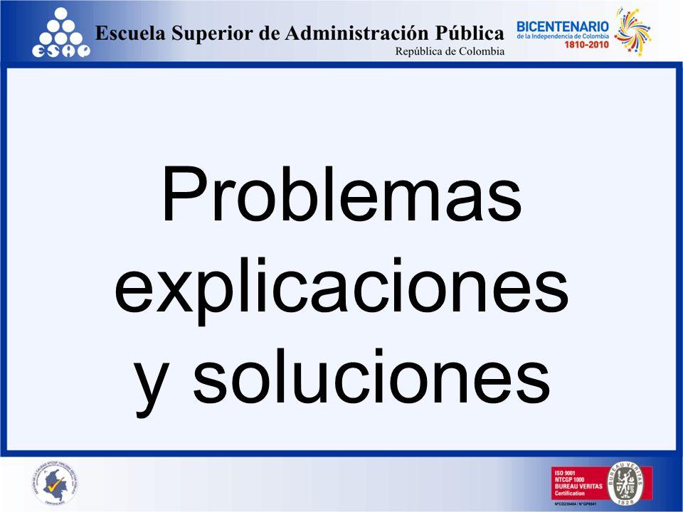 Problemas explicaciones