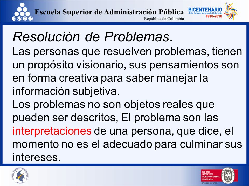 Resolución de Problemas.