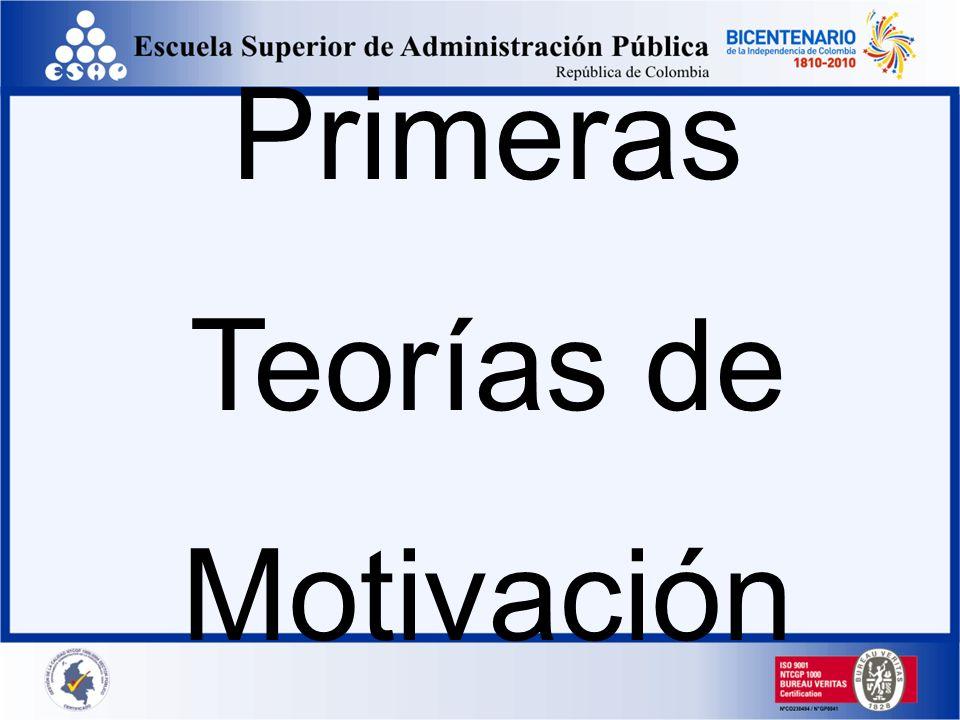 Primeras Teorías de Motivación