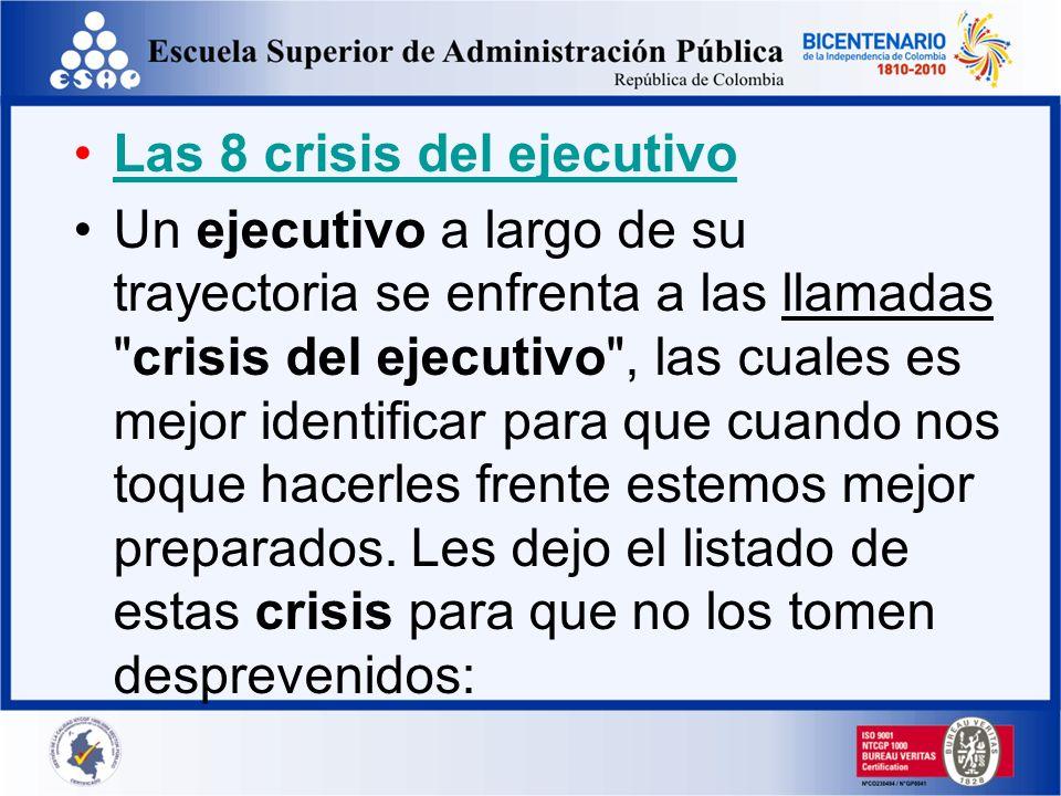 Las 8 crisis del ejecutivo