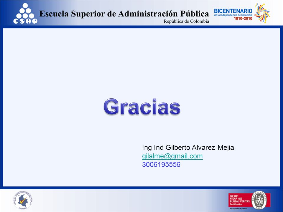 Gracias Ing Ind Gilberto Alvarez Mejia gilalme@gmail.com 3006195556