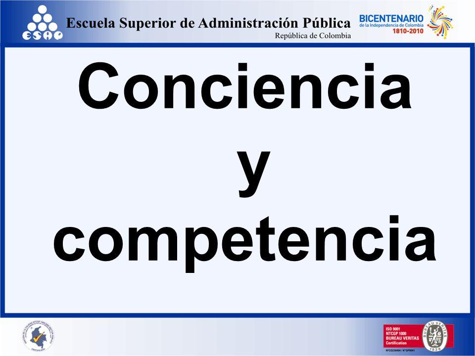 Conciencia y competencia