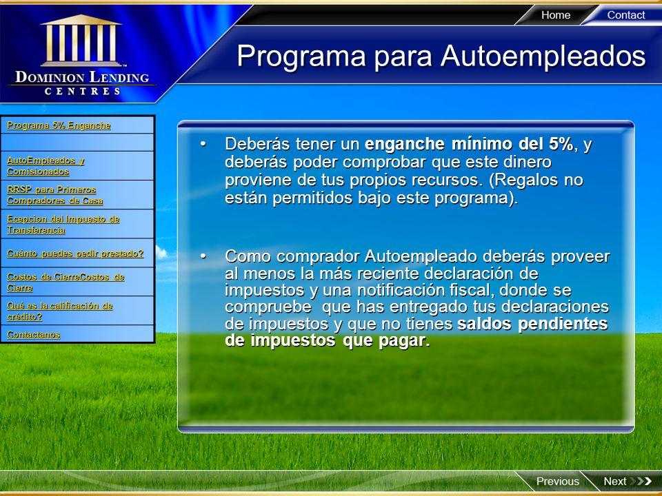 Programa para Autoempleados