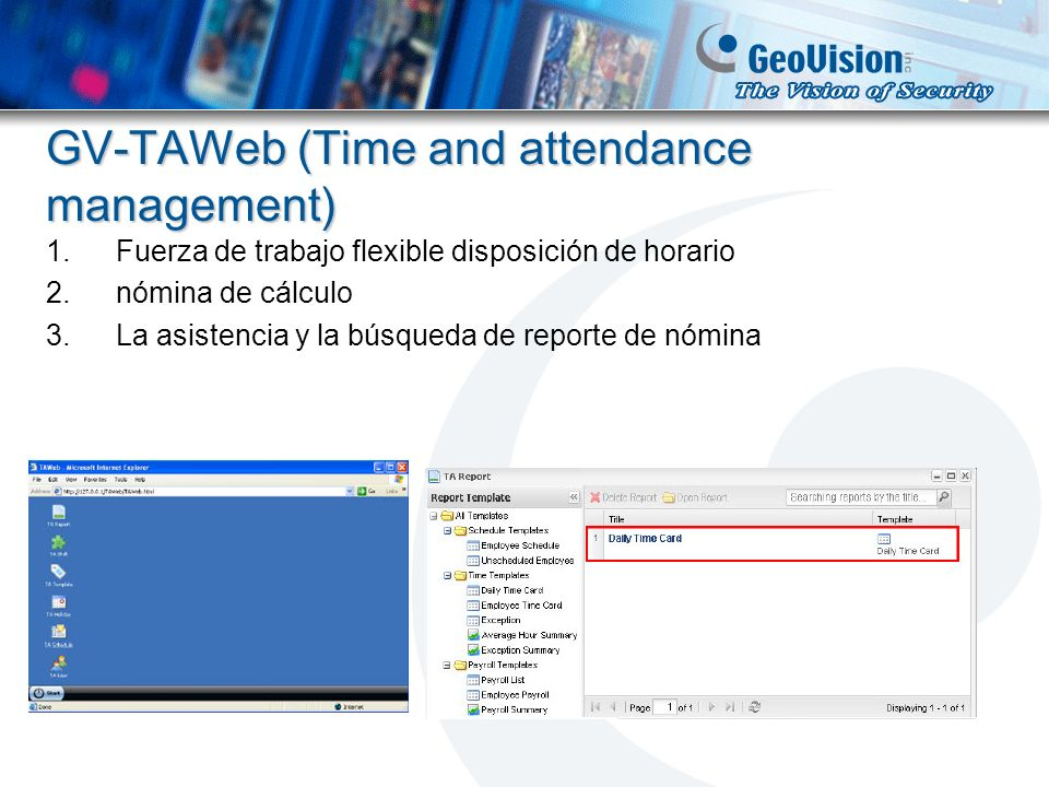 GV-TAWeb (Time and attendance management)