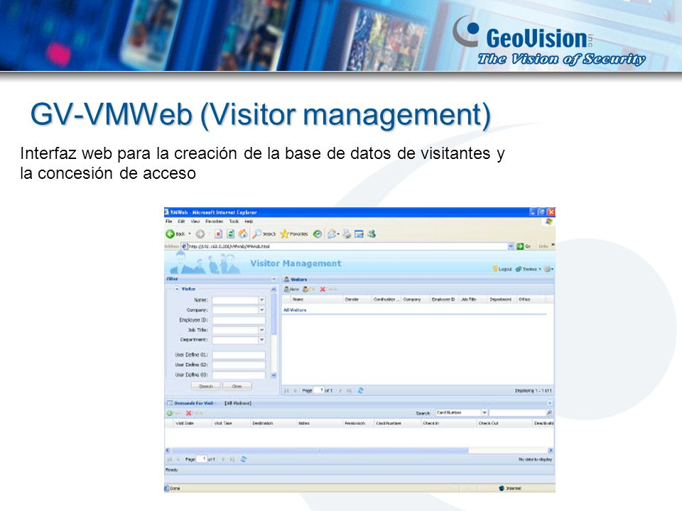 GV-VMWeb (Visitor management)