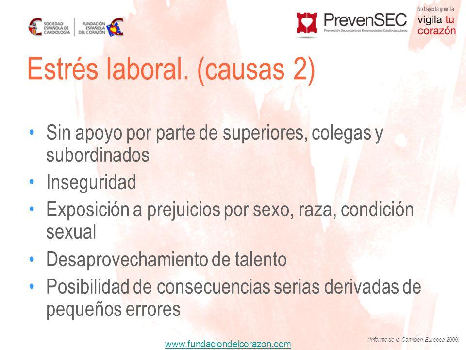 Estrés laboral. (causas 2)