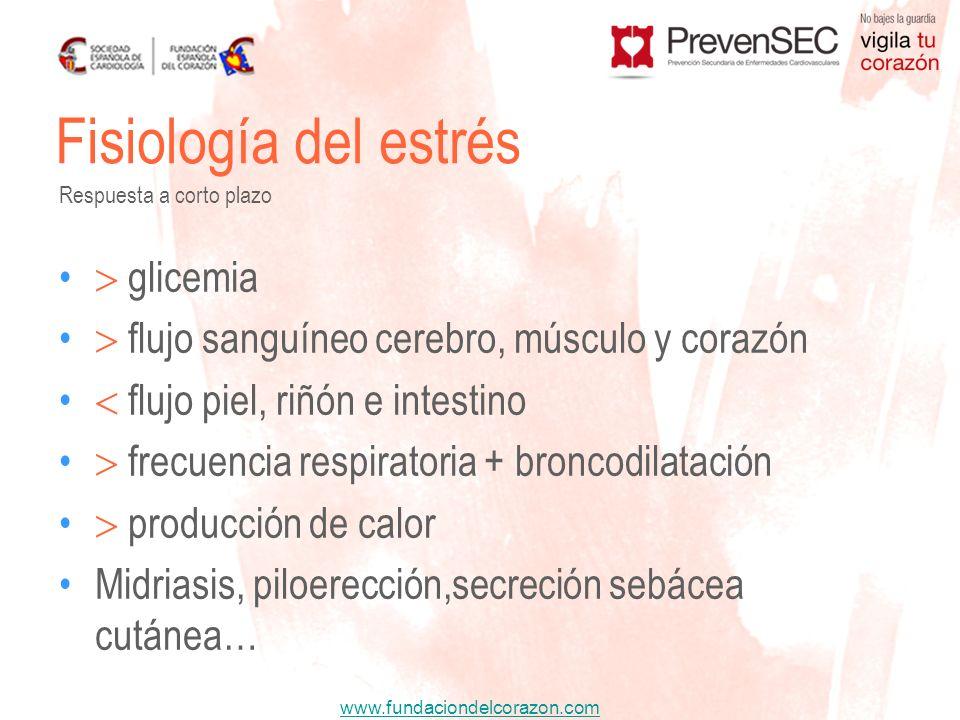 Fisiología del estrés  glicemia