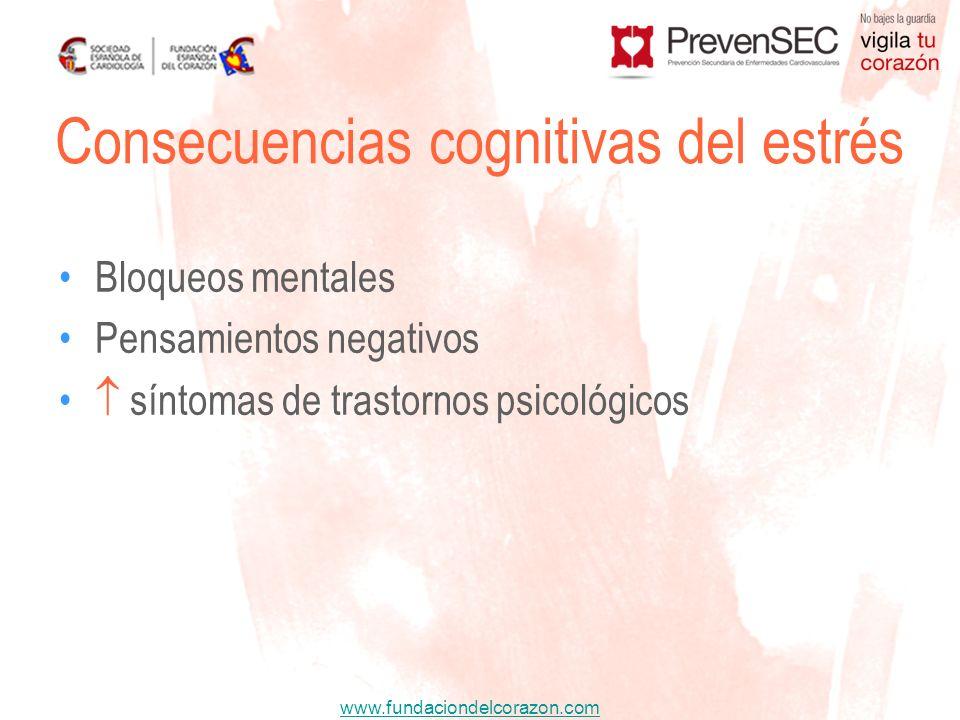 Consecuencias cognitivas del estrés