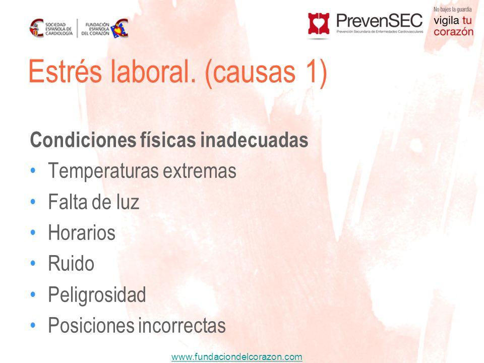 Estrés laboral. (causas 1)