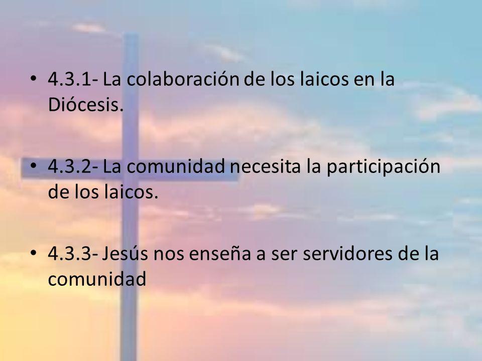 4.3.1- La colaboración de los laicos en la Diócesis.