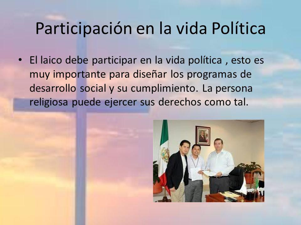 Participación en la vida Política