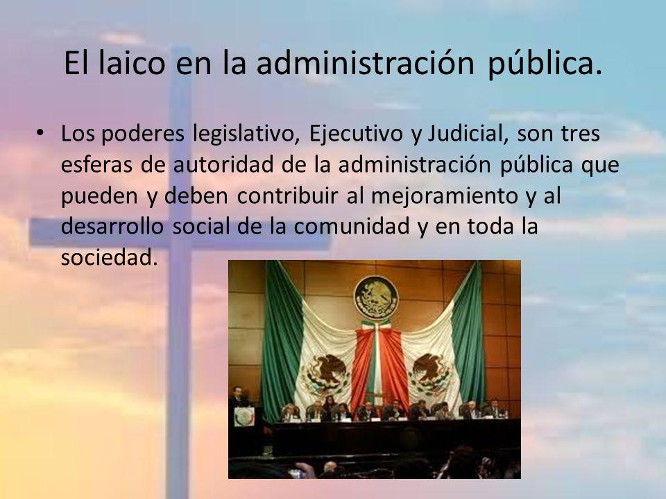 El laico en la administración pública.