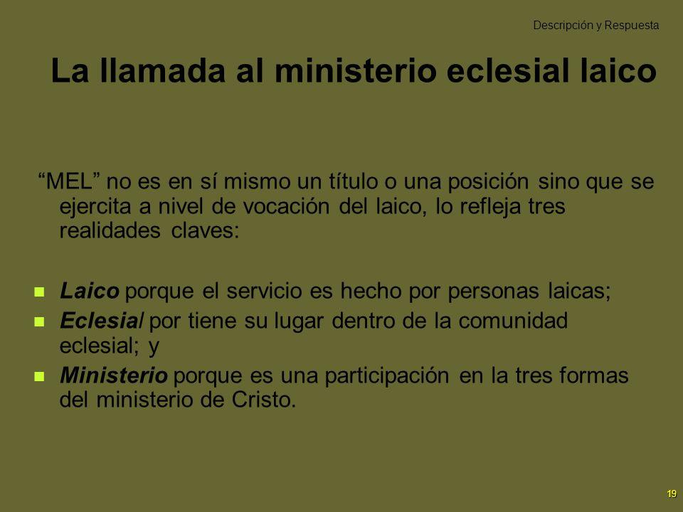 La llamada al ministerio eclesial laico