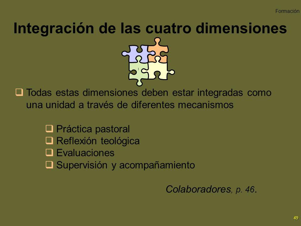 Integración de las cuatro dimensiones