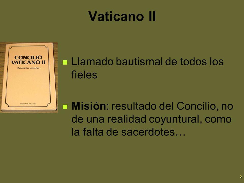 Vaticano II Llamado bautismal de todos los fieles