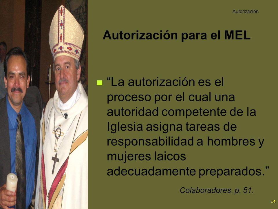 Autorización para el MEL