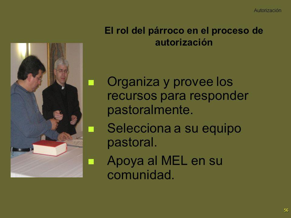 El rol del párroco en el proceso de autorización