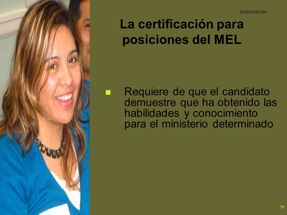 La certificación para posiciones del MEL
