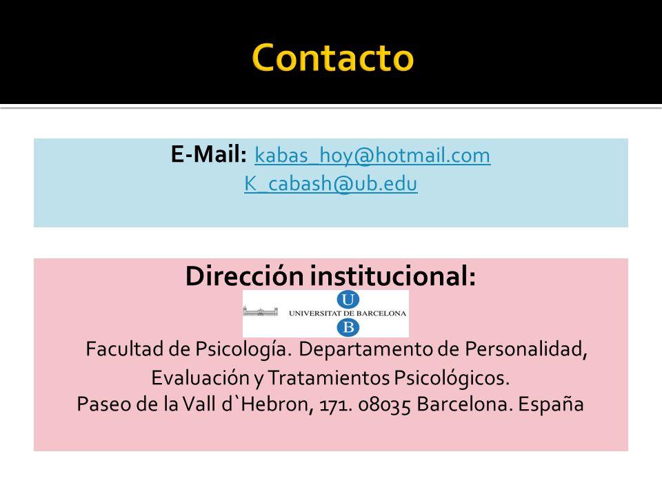 Dirección institucional: