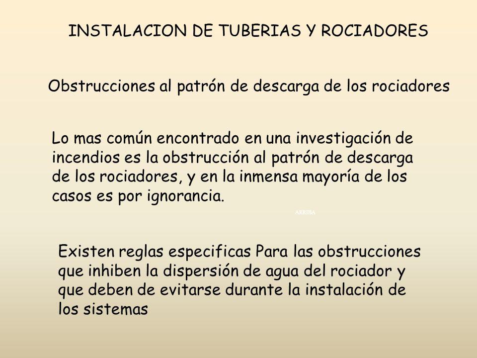 INSTALACION DE TUBERIAS Y ROCIADORES