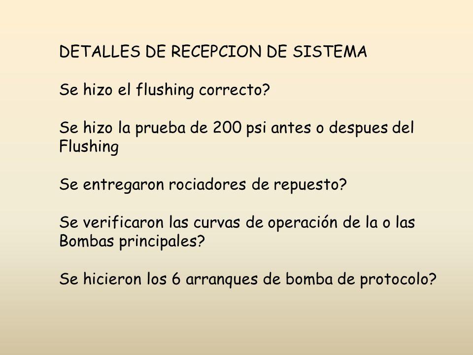 DETALLES DE RECEPCION DE SISTEMA