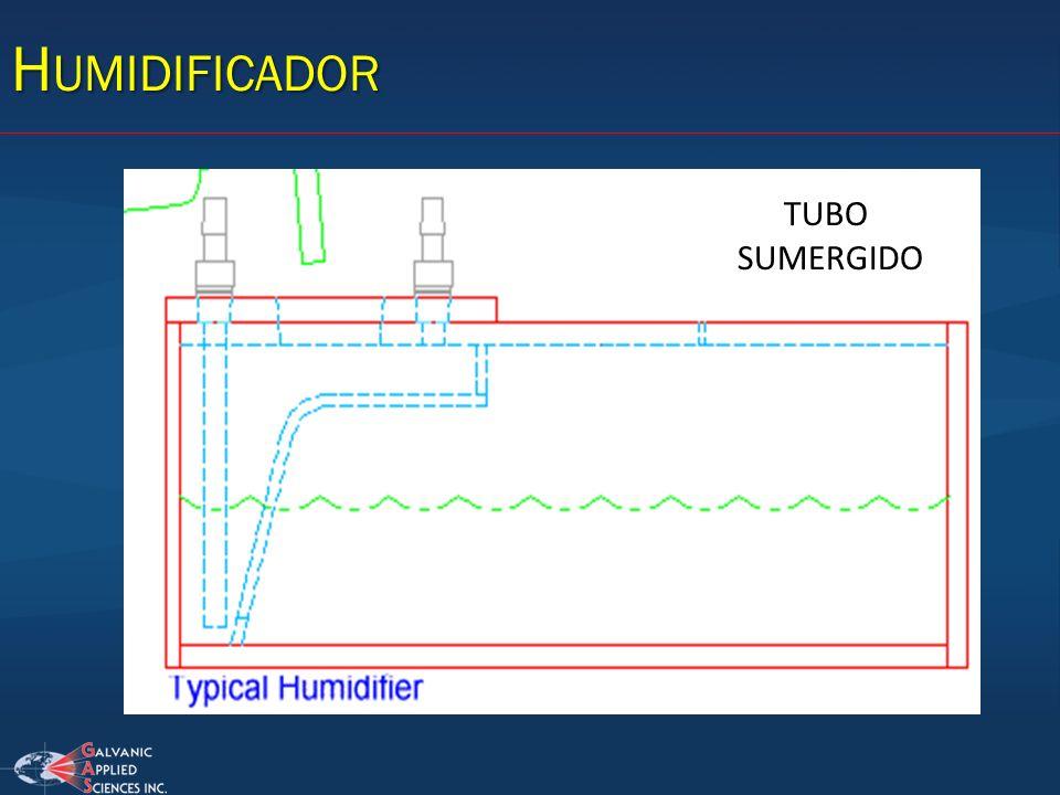 Humidificador TUBO SUMERGIDO