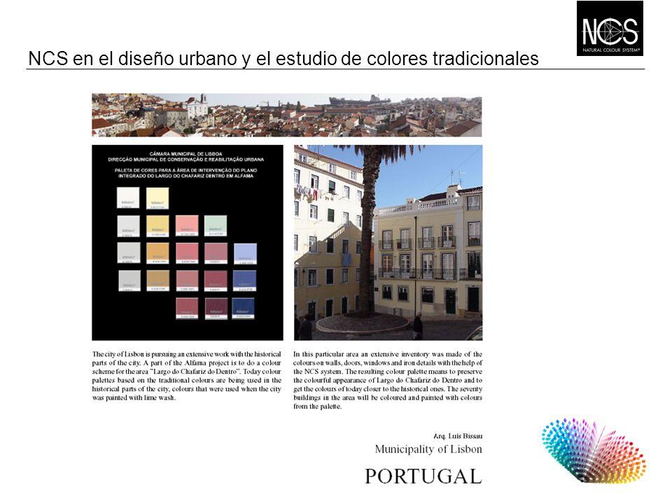 NCS en el diseño urbano y el estudio de colores tradicionales
