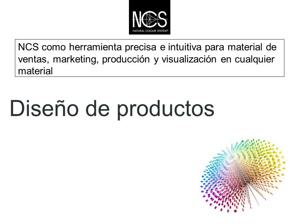 NCS como herramienta precisa e intuitiva para material de ventas, marketing, producción y visualización en cualquier material