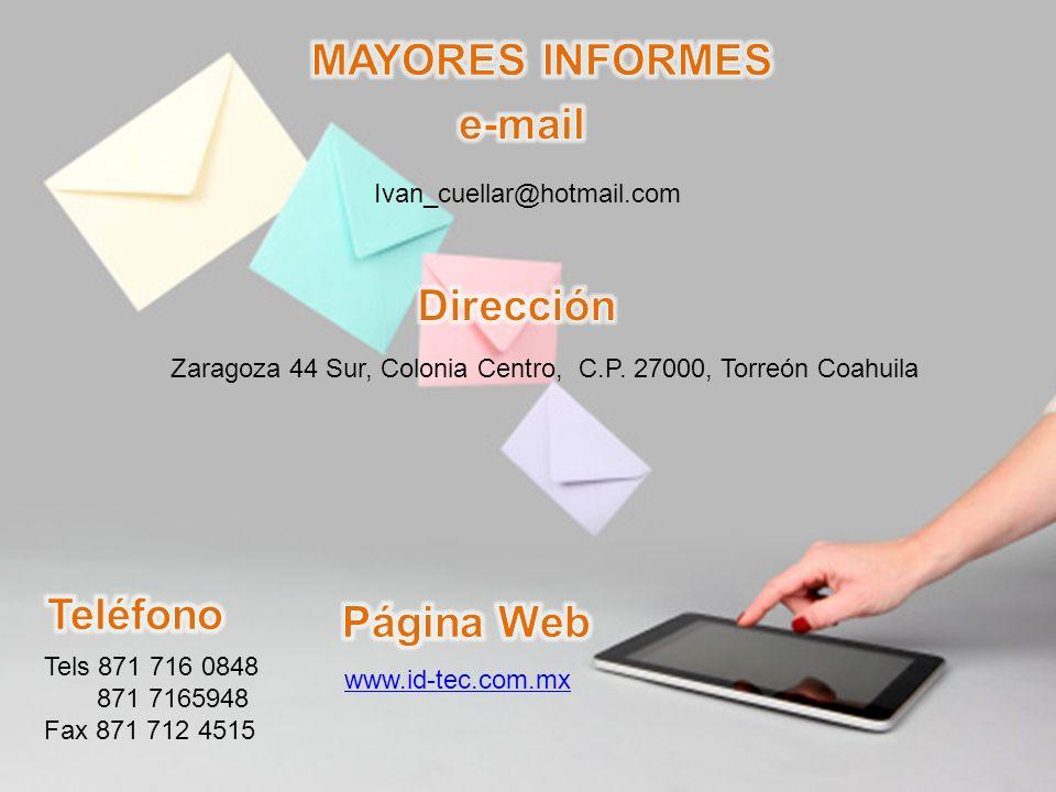 Zaragoza 44 Sur, Colonia Centro, C.P. 27000, Torreón Coahuila