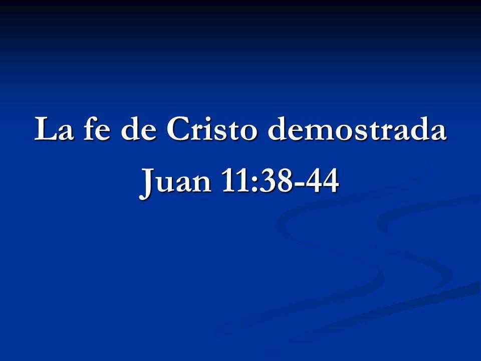 La fe de Cristo demostrada