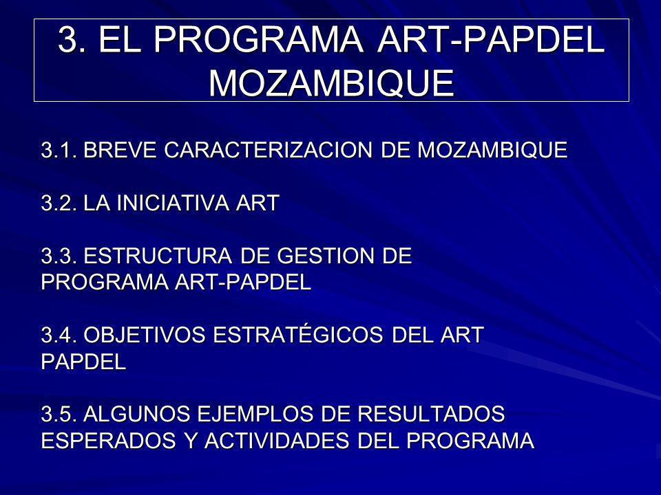 3. EL PROGRAMA ART-PAPDEL MOZAMBIQUE