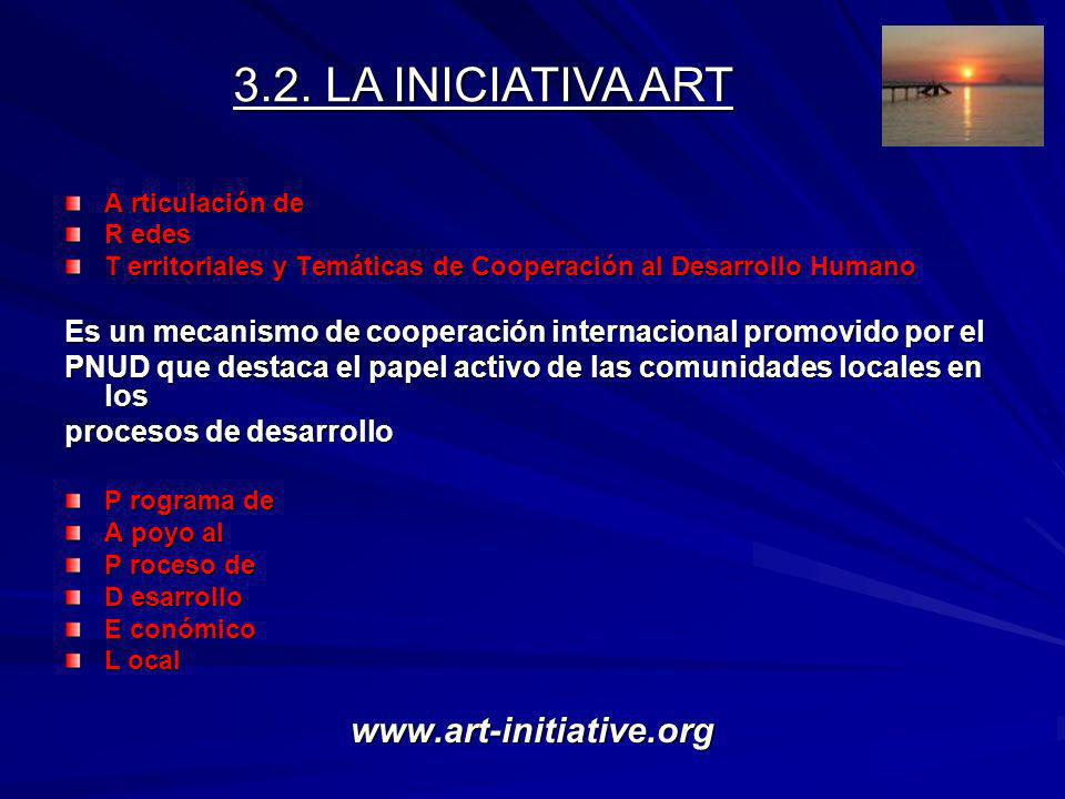 3.2. LA INICIATIVA ART www.art-initiative.org