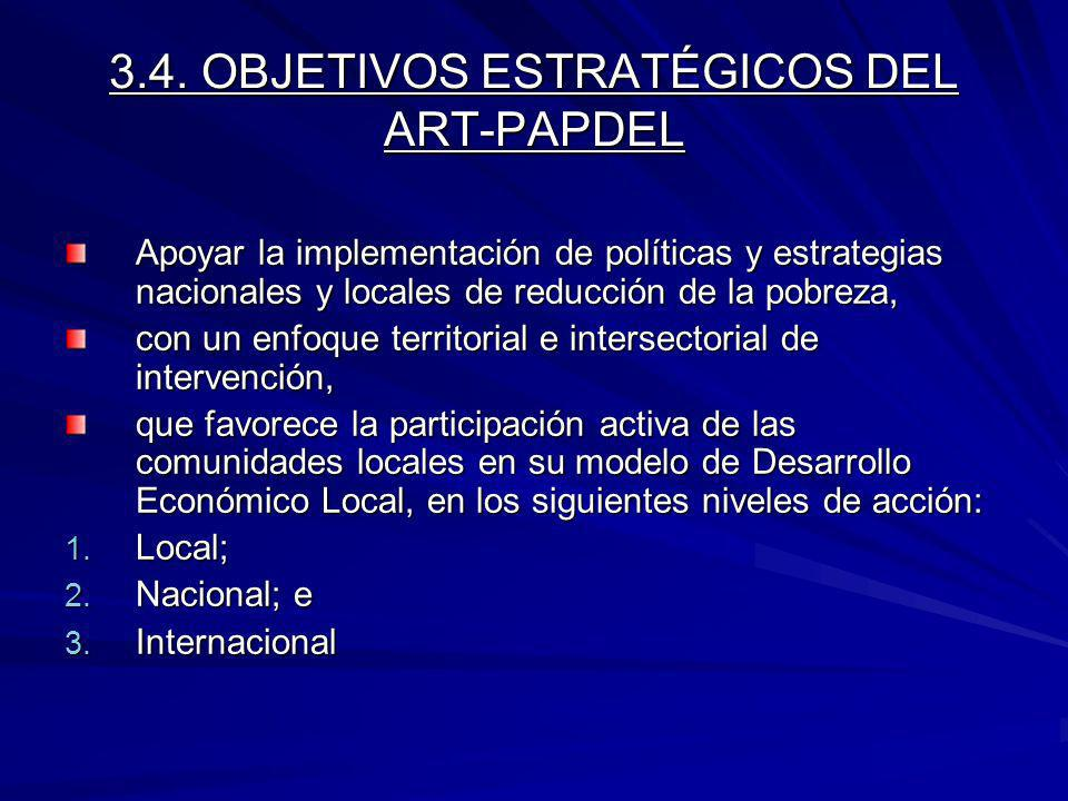 3.4. OBJETIVOS ESTRATÉGICOS DEL ART-PAPDEL