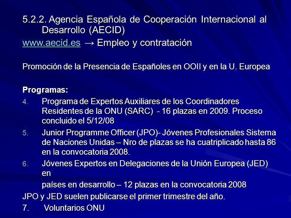 www.aecid.es → Empleo y contratación