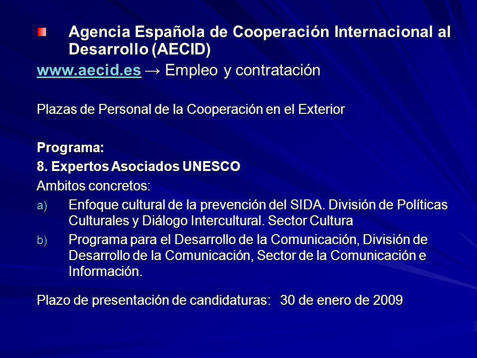 Agencia Española de Cooperación Internacional al Desarrollo (AECID)