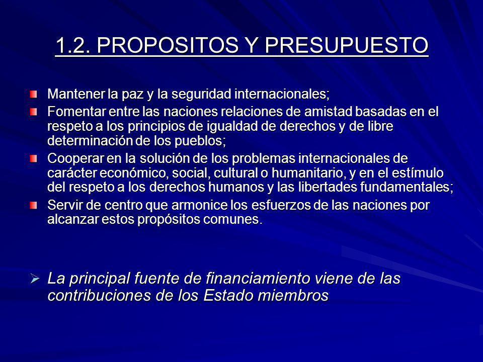 1.2. PROPOSITOS Y PRESUPUESTO