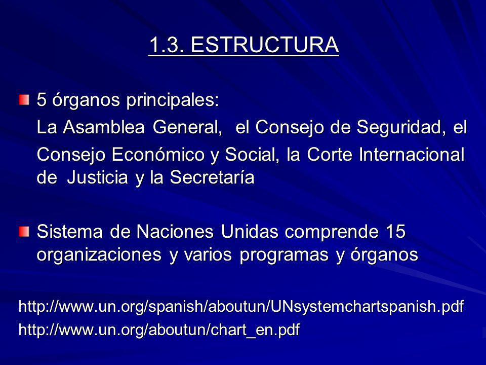 1.3. ESTRUCTURA 5 órganos principales: