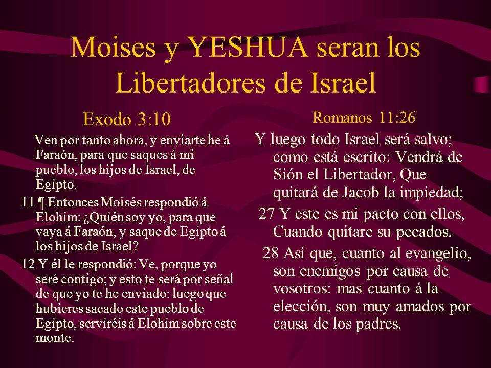 Moises y YESHUA seran los Libertadores de Israel