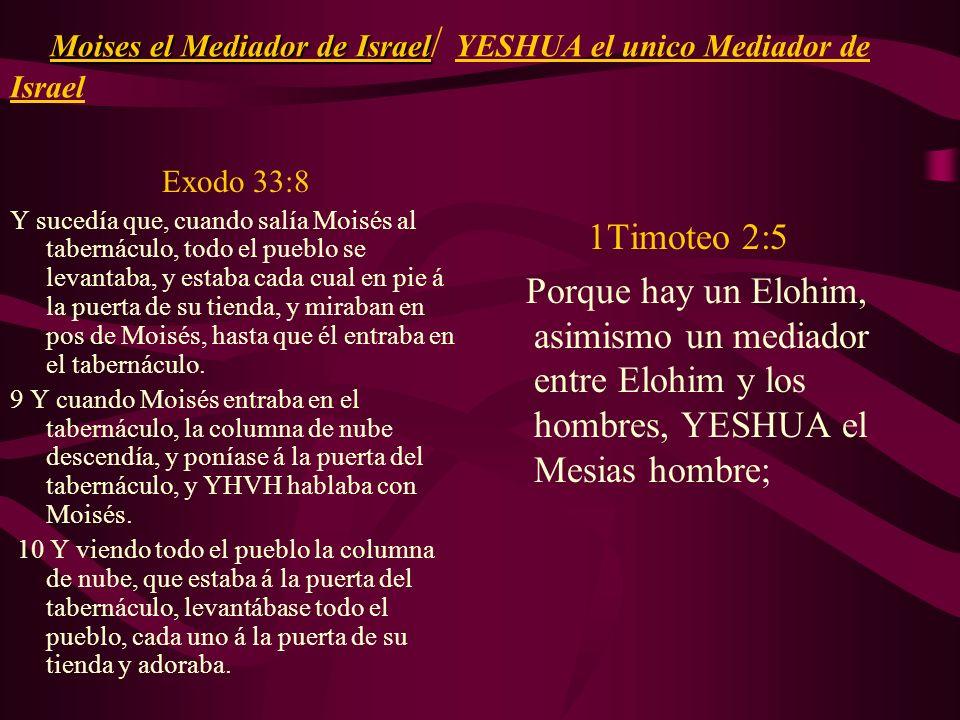 Moises el Mediador de Israel/ YESHUA el unico Mediador de Israel