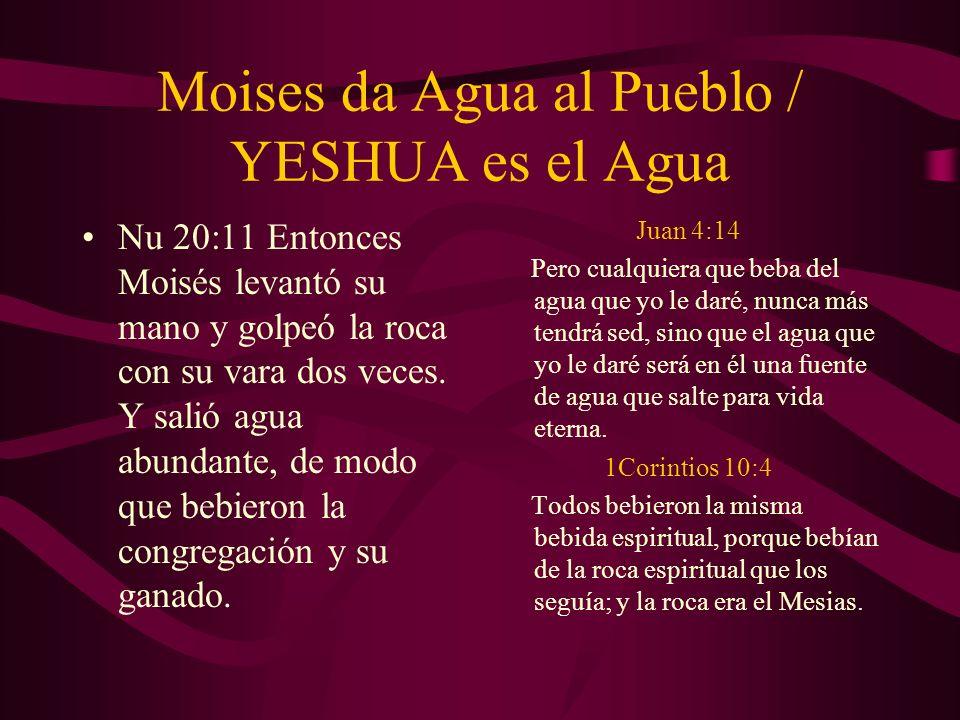 Moises da Agua al Pueblo / YESHUA es el Agua