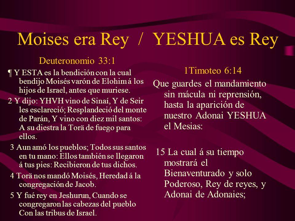 Moises era Rey / YESHUA es Rey